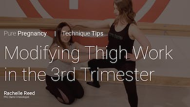 Pregnancy Technique Tips: Modifying Thigh Work in the 3rd Trimester by Pure Barre On Demand