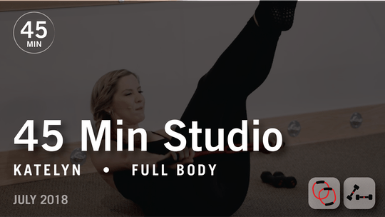 Instant Access to 45 Min Studio with Katelyn: Full Body  |  July 2018 by Pure Barre On Demand, powered by Intelivideo