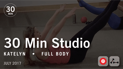 Instant Access to 30 Min Studio with Katelyn: Full Body  |  July 2017 by Pure Barre On Demand, powered by Intelivideo
