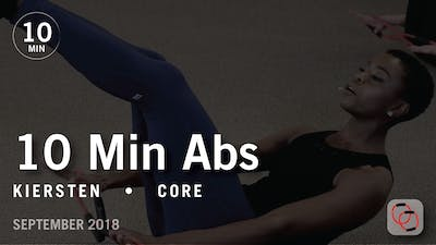 Tone in 10 with Kiersten: Abs  |  September 2018 by Pure Barre On Demand