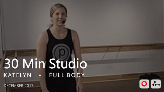 Instant Access to 30 Min Studio with Katelyn  |  December by Pure Barre On Demand, powered by Intelivideo