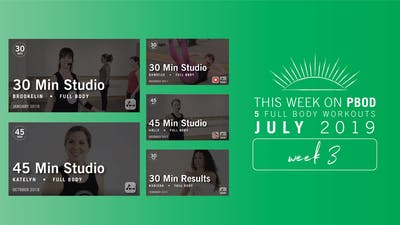 July 2019 | Week 3 by Pure Barre On Demand