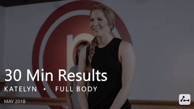 30 Min Results with Katelyn  |  May by Pure Barre On Demand