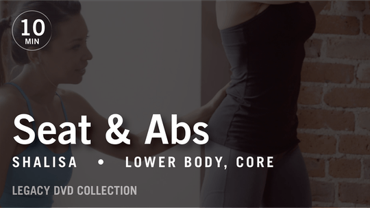 Instant Access to Tone in 10 with Shalisa: Seat & Abs  |  Legacy DVD Collection by Pure Barre On Demand, powered by Intelivideo