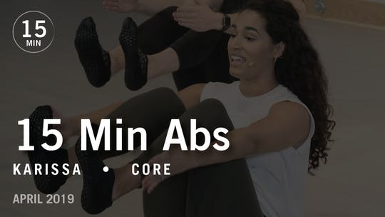 15 Min Intensive with Karissa: Core  |  April 2019 by Pure Barre On Demand