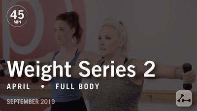 Weight Series 2 with April | September 2019 by Pure Barre On Demand