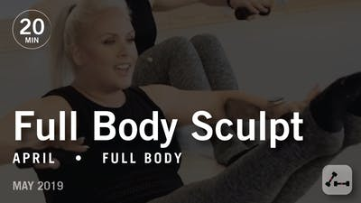 Instant Access to Sculpt in 20 with April: Full Body  |  May 2019 by Pure Barre On Demand, powered by Intelivideo
