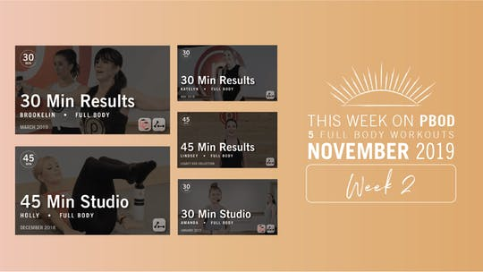 November 2019 | Week 2 by Pure Barre On Demand