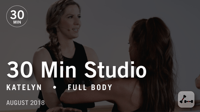30 Min Studio with Katelyn: Full Body  |  August 2018 by Pure Barre On Demand