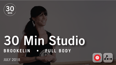 Instant Access to 30 Min Studio with Brookelin: Full Body  |  July 2018 by Pure Barre On Demand, powered by Intelivideo