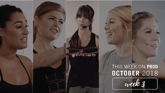 October  |  Week 3 by Pure Barre On Demand