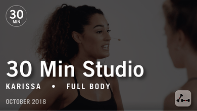 30 Min Studio with Karissa: Full Body  |  October 2018 by Pure Barre On Demand