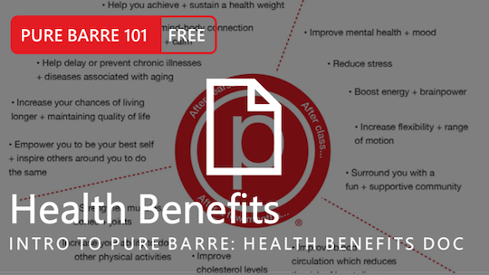 Instant Access to Intro to Pure Barre: Health Benefits by Pure Barre On Demand, powered by Intelivideo