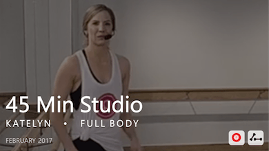 45 Min Studio with Katelyn  |  February by Pure Barre On Demand