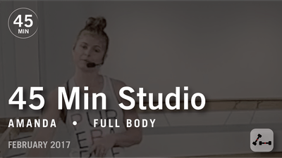 45 Min Studio with Amanda: Full Body  |  February 2017 by Pure Barre On Demand