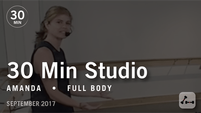 30 Min Studio with Amanda: Full Body  |  September 2017 by Pure Barre On Demand