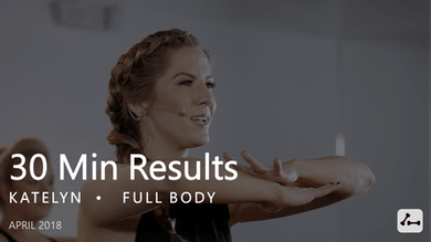 30 Min Results with Katelyn  |  April by Pure Barre On Demand