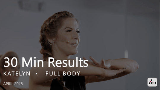 Instant Access to 30 Min Results with Katelyn  |  April by Pure Barre On Demand, powered by Intelivideo