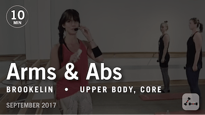 Instant Access to Tone in 10 with Brookelin: Arms & Abs  |  September 2017 by Pure Barre On Demand, powered by Intelivideo