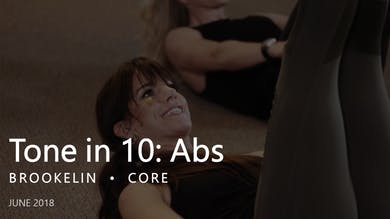 Tone in 10: Abs |  June by Pure Barre On Demand