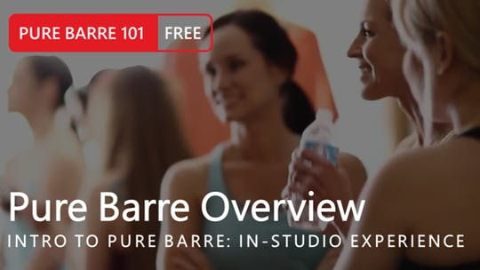 Instant Access to Intro to Pure Barre: In-Studio Experience by Pure Barre On Demand, powered by Intelivideo