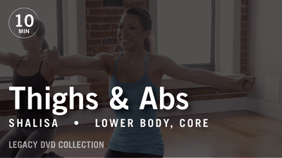 Instant Access to Tone in 10 with Shalisa: Thighs & Abs  |  Legacy DVD Collection by Pure Barre On Demand, powered by Intelivideo