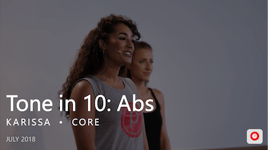 Tone in 10: Abs  |  July by Pure Barre On Demand