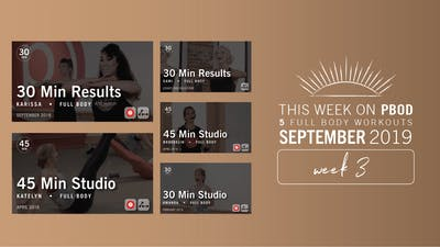 September 2019 | Week 3 by Pure Barre On Demand