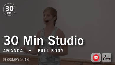 30 Min Studio with Amanda: Full Body  |  February 2018 by Pure Barre On Demand