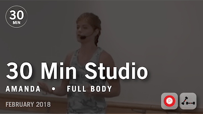 Instant Access to 30 Min Studio with Amanda: Full Body  |  February 2018 by Pure Barre On Demand, powered by Intelivideo