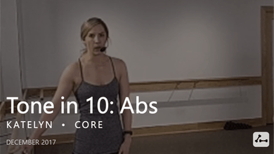 Tone in 10: Abs  |  December by Pure Barre On Demand