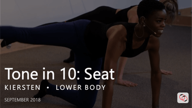 Tone in 10: Seat  |  September by Pure Barre On Demand
