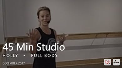 45 Min Studio with Holly  |  December by Pure Barre On Demand
