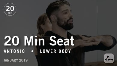 20 Min Intensive with Antonio: Seat  |  January 2019 by Pure Barre On Demand
