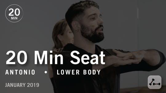 Instant Access to Sculpt in 20 with Antonio: Seat  |  January 2019 by Pure Barre On Demand, powered by Intelivideo