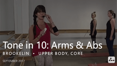 Tone in 10: Arms & Abs  |  September by Pure Barre On Demand