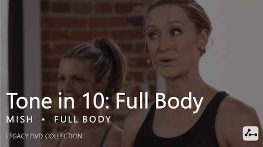 Instant Access to Tone in 10: Full Body by Pure Barre On Demand, powered by Intelivideo