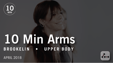 Tone in 10 with Brookelin: Arms  |  April 2018 by Pure Barre On Demand