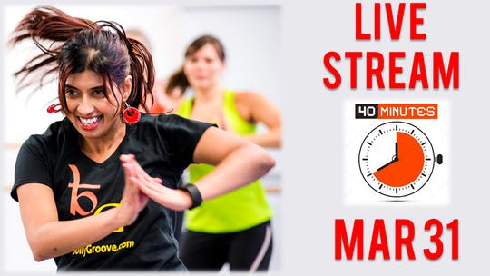 March 31, Live Cardio by Bollywood Groove