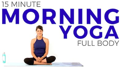 15 minute Morning Yoga Routine - Full Body Flow by Sarah Beth Yoga