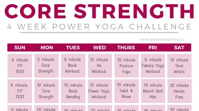 4-week Core Strength Challenge by Sarah Beth Yoga