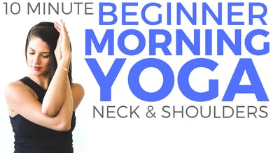 10 minute Morning Yoga for Beginners 😃 Yoga for Neck & Shoulder Tension by Sarah Beth Yoga