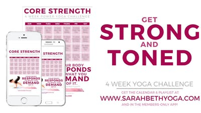 Instant Access to TRAILER: Core Class & Calendar by Sarah Beth Yoga, powered by Intelivideo