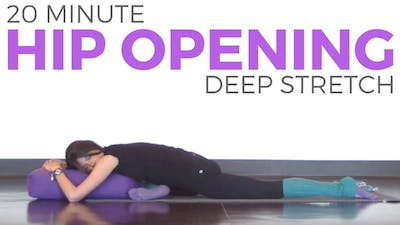 Instant Access to 20 Minute Deep Stretch Yoga For Hips by Sarah Beth Yoga, powered by Intelivideo