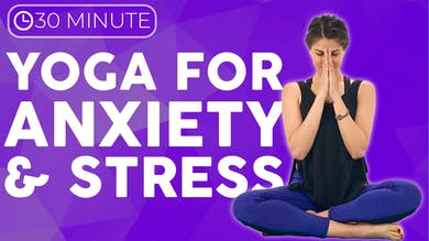 30 minute Yoga for Stress & Anxiety | Slow Stretch Yoga Practice by Sarah Beth Yoga