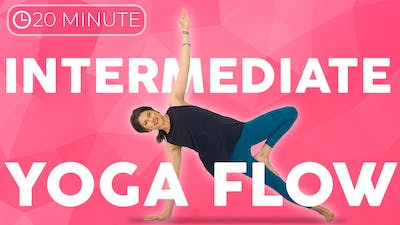 Instant Access to Intermediate Power Vinyasa Yoga Flow (20 minute) Full Body Yoga Workout for Strength & Flexibility by Sarah Beth Yoga, powered by Intelivideo