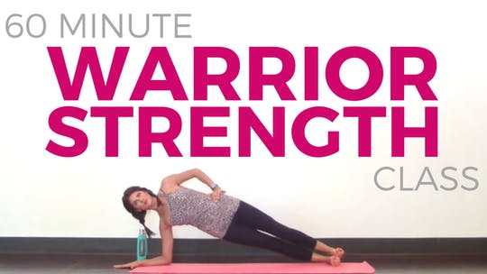Instant Access to 60 minute Warrior Strength - Power Yoga Class by Sarah Beth Yoga, powered by Intelivideo