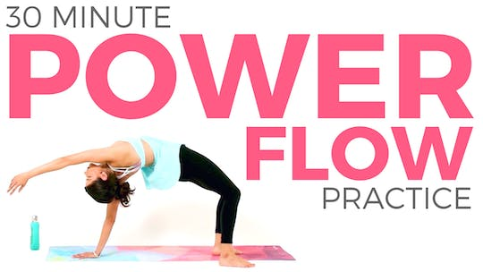 Instant Access to 30 minute Power Flow Yoga Practice by Sarah Beth Yoga, powered by Intelivideo