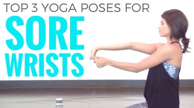 3 Poses for Sore Wrists by Sarah Beth Yoga