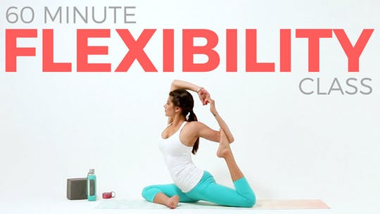 Instant Access to 60 minute Yoga for Flexibility Hatha Yoga Class by Sarah Beth Yoga, powered by Intelivideo